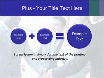 Businessmen handshaking PowerPoint Template - Slide 75