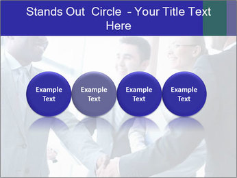 Businessmen handshaking PowerPoint Template - Slide 76