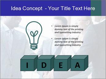 Businessmen handshaking PowerPoint Template - Slide 80