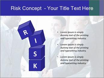 Businessmen handshaking PowerPoint Template - Slide 81