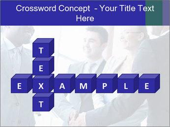 Businessmen handshaking PowerPoint Template - Slide 82