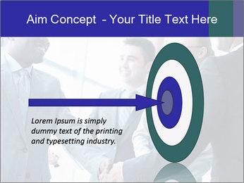 Businessmen handshaking PowerPoint Template - Slide 83