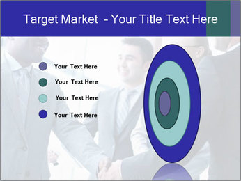 Businessmen handshaking PowerPoint Template - Slide 84