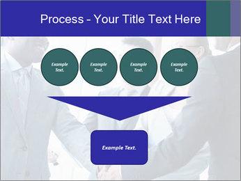 Businessmen handshaking PowerPoint Template - Slide 93