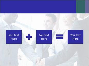 Businessmen handshaking PowerPoint Template - Slide 95