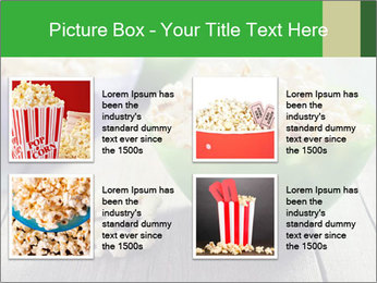 Popcorn in plastic bowls PowerPoint Template - Slide 14