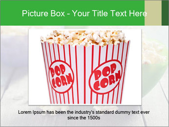 Popcorn in plastic bowls PowerPoint Template - Slide 15