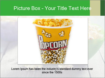 Popcorn in plastic bowls PowerPoint Template - Slide 16