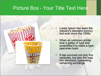 Popcorn in plastic bowls PowerPoint Template - Slide 20