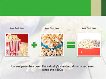 Popcorn in plastic bowls PowerPoint Template - Slide 22