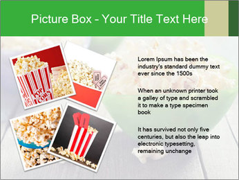 Popcorn in plastic bowls PowerPoint Template - Slide 23