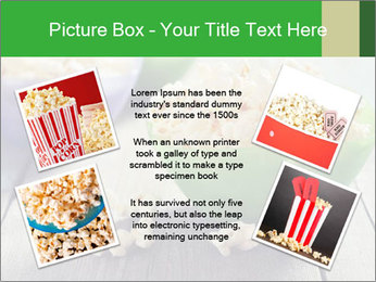 Popcorn in plastic bowls PowerPoint Template - Slide 24