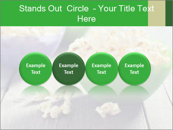 Popcorn in plastic bowls PowerPoint Template - Slide 76