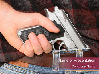 Pistol Concealed PowerPoint Template