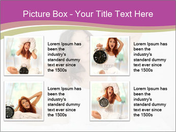 Young woman waking up PowerPoint Template - Slide 14