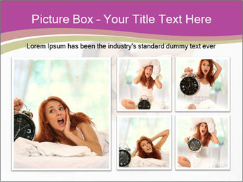 Young woman waking up PowerPoint Template - Slide 19