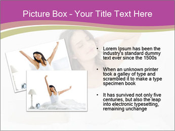 Young woman waking up PowerPoint Template - Slide 20