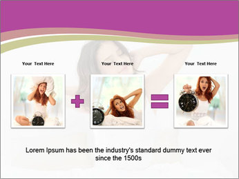 Young woman waking up PowerPoint Template - Slide 22