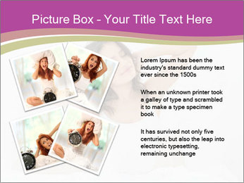 Young woman waking up PowerPoint Template - Slide 23