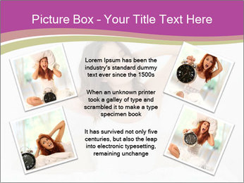 Young woman waking up PowerPoint Template - Slide 24