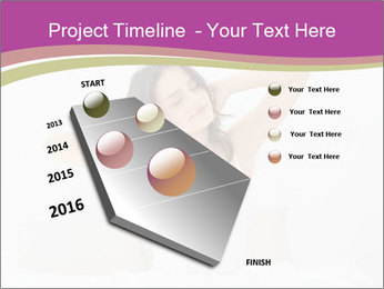 Young woman waking up PowerPoint Template - Slide 26