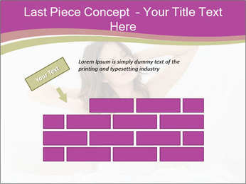 Young woman waking up PowerPoint Template - Slide 46