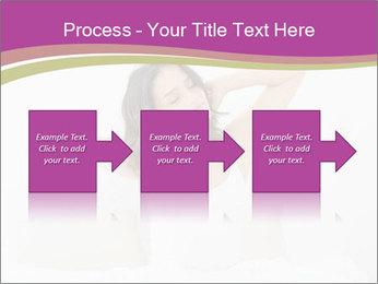Young woman waking up PowerPoint Template - Slide 88
