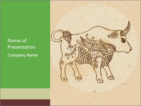 Buffalo Wall Drawing PowerPoint Template