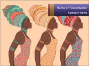 African Women Drawing PowerPoint Templates