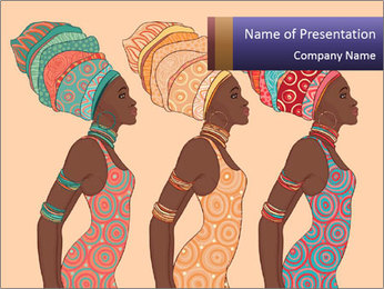 African Women Drawing PowerPoint Templates - Slide 1
