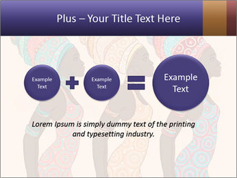 African Women Drawing PowerPoint Templates - Slide 75