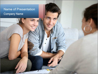 Couple Meets Real Estate Consultant PowerPoint Template