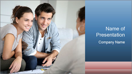 Couple meeting PowerPoint Template