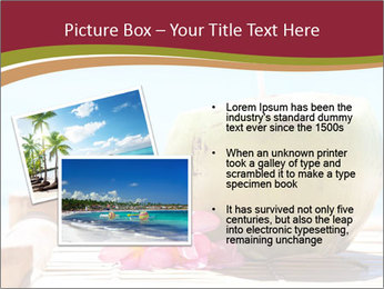 Tropical fresh coconut cocktail PowerPoint Template - Slide 20