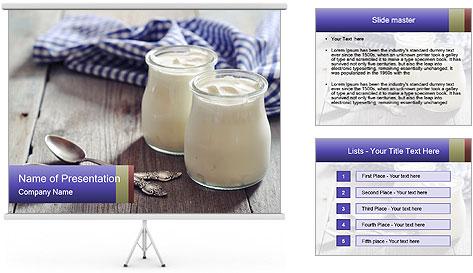 Greek yogurt in a glass PowerPoint Template