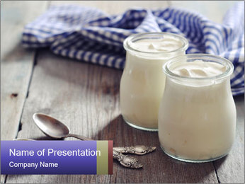 Greek yogurt in a glass PowerPoint Template