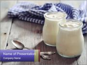 Greek yogurt in a glass PowerPoint Templates