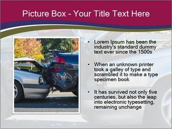 Auto accident involving two cars on a city street PowerPoint Template - Slide 13
