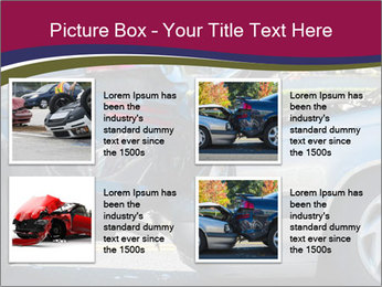 Auto accident involving two cars on a city street PowerPoint Template - Slide 14