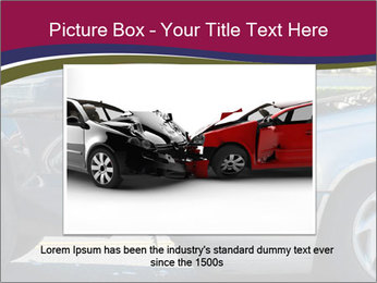Auto accident involving two cars on a city street PowerPoint Templates - Slide 15