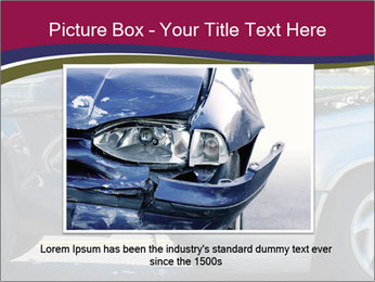 Auto accident involving two cars on a city street PowerPoint Template - Slide 16