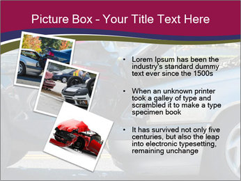 Auto accident involving two cars on a city street PowerPoint Template - Slide 17