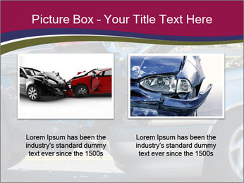 Auto accident involving two cars on a city street PowerPoint Templates - Slide 18