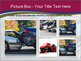 Auto accident involving two cars on a city street PowerPoint Template - Slide 19