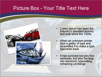 Auto accident involving two cars on a city street PowerPoint Template - Slide 20
