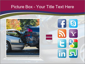 Auto accident involving two cars on a city street PowerPoint Template - Slide 21