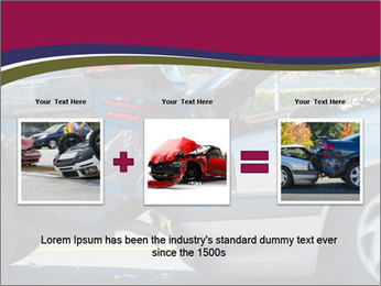 Auto accident involving two cars on a city street PowerPoint Templates - Slide 22