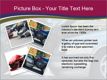 Auto accident involving two cars on a city street PowerPoint Template - Slide 23