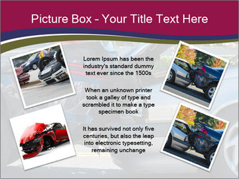 Auto accident involving two cars on a city street PowerPoint Template - Slide 24