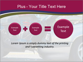 Auto accident involving two cars on a city street PowerPoint Templates - Slide 75